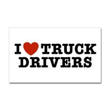 Love Truck Drivers Rectangle Sticker for