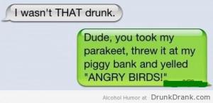 wasn't THAT drunk…