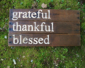 ... hand painted family sign Grateful Thankful Blessed inspirational quote