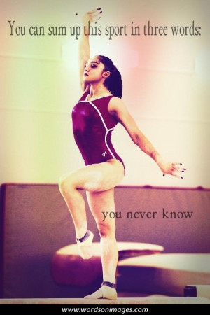 Famous Gymnast Quotes Gymnastics Quotes