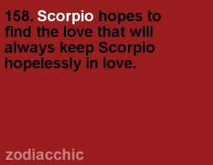 ... the love will always keep scorpio hopelessly in love astrology quote