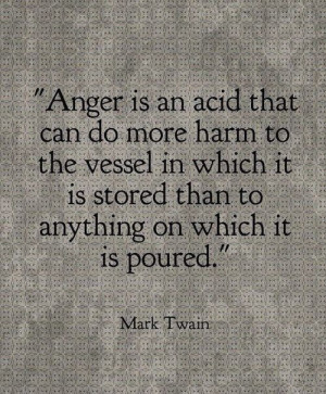 Mark Twain wise word about anger