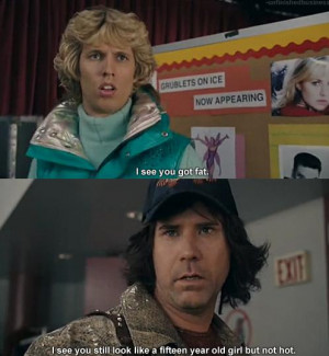 funny Will Ferrell movie screencap fat Little girl diss blades of ...