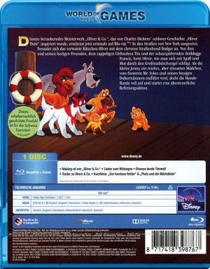 oliver and company blu ray cover