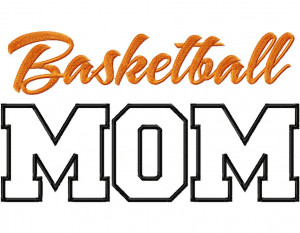 Basketball Mom Applique Machine Embroidery Design