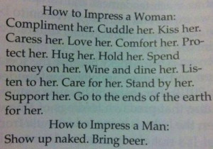 How to keep a woman happy