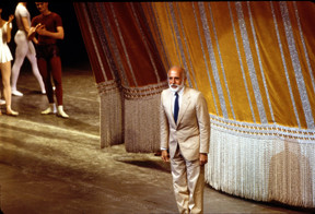 Jerome Robbins taking a curtain call at the