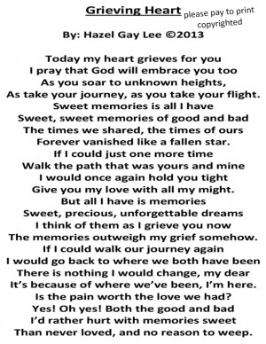 Grieving Heart – Poem about Losing Someone You Love