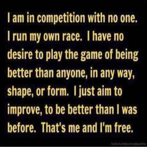 Run My Own Race - #Quotes