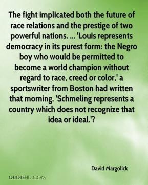 ... sportswriter from Boston had written that morning. 'Schmeling