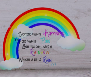 Rainbow Quotes Rainbow wall decal