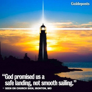 God promised us a safe landing, not smooth sailing https://www ...