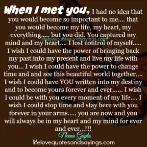 When I Met You..