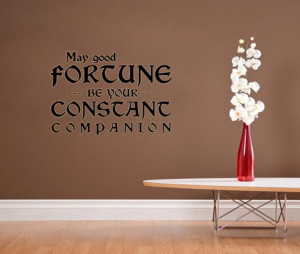 may good fortune be companion out vinyl wall quote for home(China ...