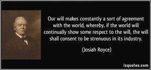 ... show some respect to the will, the will shall consent to be strenuous