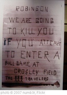 jackie_robinson_hatemail2' photo (c) 2007, numb3r - license: http ...