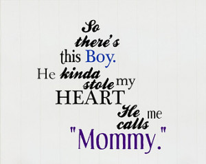 So There's This Boy Mother and Son Quote Wall Decal ...