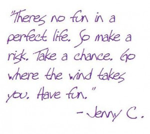 There Is No Fun In A Perfect Life