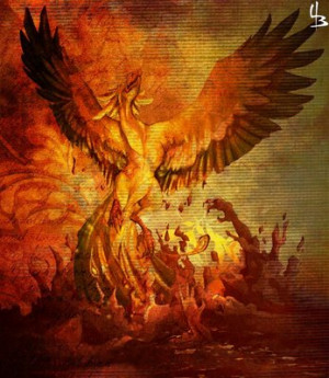 phoenix rising the mythical phoenix is reborn out of the