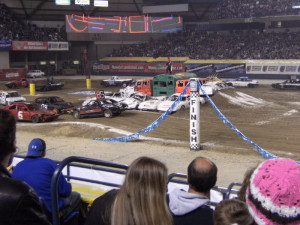 liked the demolition derby cars Image