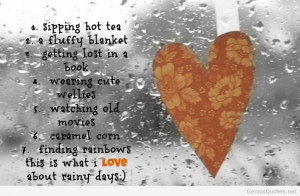 Rainy summer days quotes