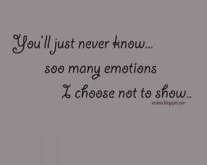 no emotion quotes