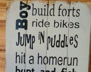 Boy build forts ride bikes jump in puddles hit a homerun hunt and fish ...