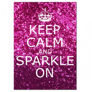 and Sparkle On - 5x7 Inspirational Popular Quote Print - Glitter Pink ...