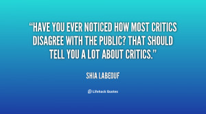 Quotes About Critics