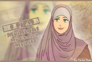 manga hijab poster text hijab my right my choice my life source this ...