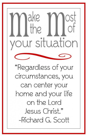 Christ Centered Home- handout for LDS young women lesson