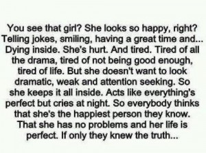 alone, girl, happiness, perfect, quote, sadnees, sickness, text
