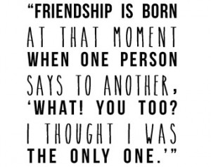 Lewis friendship literary quote typography print friends BFF ...