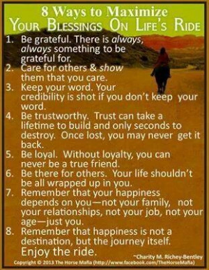 Maximize life's blessings