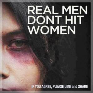 Real Man Dont Hit Women