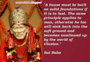 Lovely Sai Baba Pictures and Quotes | Sai Baba Sayings With Wallpaper