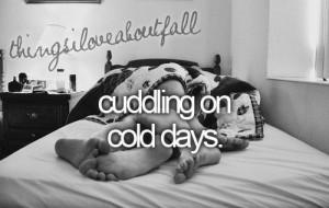 Cold day cuddling