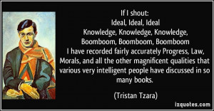 If I shout: Ideal, Ideal, Ideal Knowledge, Knowledge, Knowledge ...