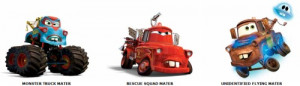 Mater, Mater the Greater, Monster Truck Mater, Rescue Squad Mater, and ...