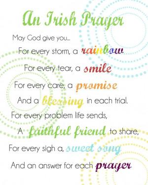 Free Irish Prayer Printable! Happy St. Patty's Day and this is so true ...