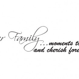 Home And Family Wall Sticker Quote by Serious Onions Ltd