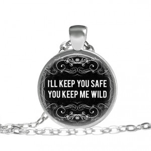 ll Keep You Safe, You Keep Me Wild Quote Necklace, Quote, Quote ...