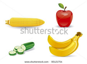 ... of cartoon fruit orange banana raspberry with cute funny sayings
