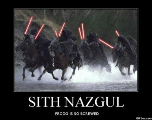 Sith Nazgul vs. Frodo - Funny Pictures, MEME and Funny GIF from GIFSec ...