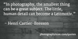... can become a Leitmotiv Henri Cartier Bresson - Icon Photography School