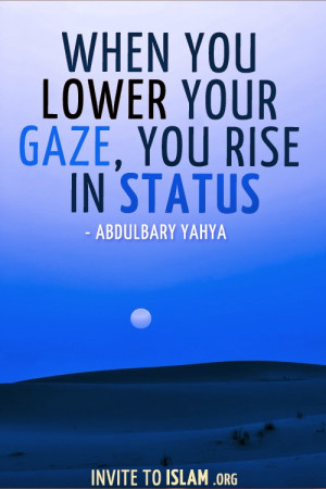 Here are some awesome Lower Your Gaze Quotes: