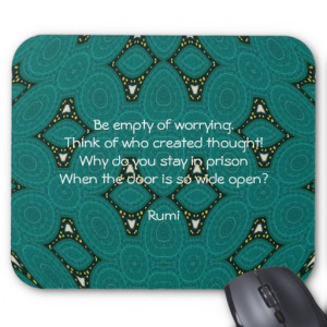 Rumi Inspirational quote With Tribal Design Mouse Pad