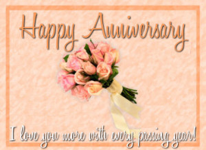 Happy Anniversary : I Love You More with Ever Passing Year