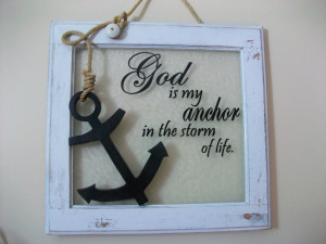 God is my anchor. $42.50, via Etsy.