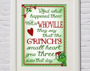 Set of 3 Grinch Quotes 11x14 Printables How the Grinch Stole Christmas ...